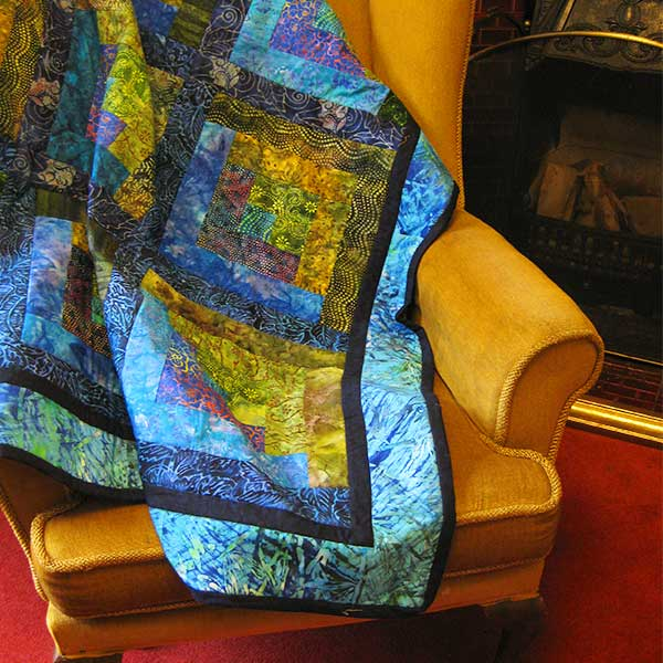 batik lap quilt