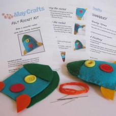 Make your own rocket - felt craft kit