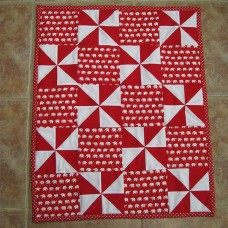 Elephants and Pinwheels Quilt (Small)